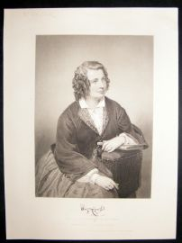 Eliza Cook 1873 Antique Portrait Print